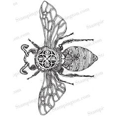 Find this beautiful bumble bee by Crystal Brashear inside Issue 2 of The Coloring Studio. Bee Coloring Pages, Colouring, Zantangle Art, Bee Drawing, Bee Creative, Ink Addiction, Bee Tattoo, Black And White Lines, Insect Art