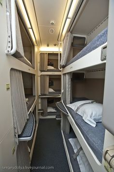 Airbus A-380 - Flight crew sleeping quarters for long distance flights - Always hidden from public view