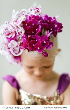 Radiant orchid headpiece | Photographers: Yolandé Marx, Flowers & Styling: Heike from Fleur Le Cordeur
