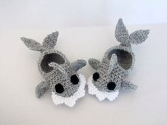 Crochet Baby Shark slippers, house shoes-Crochet Baby Booties-for Baby or Toddler-Gray baby booties-newborn crochet boy slippers-animal. $15.00, via Etsy.