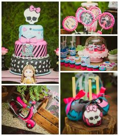 Monster High themed birthday party with so many fabulous ideas via Kara's Party Ideas! full of decorating ideas, cake, favors, games, decor,...