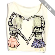Sexy Women Summer O-Neck Short Tank Vest Print Casual Sleeveless Crop Tops_T-Shirts & Tanks_TOPS_CLOTHING_The Latest Trends & Fashion Clothing For Women Online Store-www.dressin.com