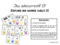 jeu auto correctif cp écritures nb 0 à 20