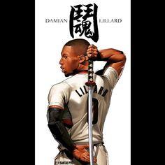 Damian Lillard Fighting Spirit Illustration