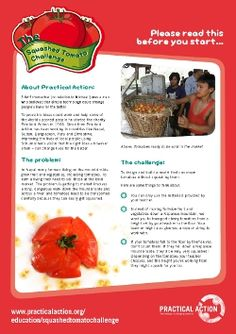 The Squashed Tomato Challenge Practical Action, Year 6, Stem Challenges, Squash, Schools, Awards, Food, Pumpkins, Gourd
