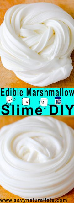With only four major ingredients Edible Marshmallow slime is not only easy to make. It's fun to play with and tastes so good!