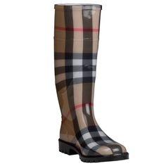 Keep your feet dry in style this season with these Burberry printed rain boots.
