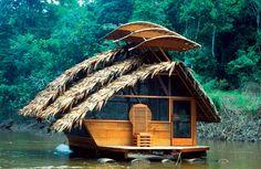 Floating Eco Lodge. Yarapa River, Amazon, Peru. Travis Price and Spirit of Place--Spirit of Design Program, Catholic University of America. 1999.