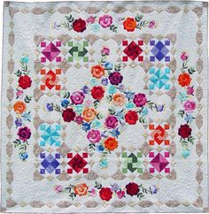 Now & Forever Quilt Pattern ~~ Once completed, this quilt is absolutely beautiful and would make a lovely wedding or anniversary gift!