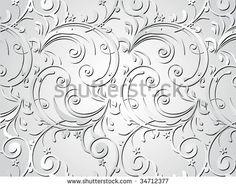 grey artistic floral design background, vector illustration