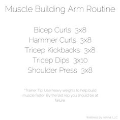 Muscle Building Arm Routine: Wellness by @petiteheartbeat