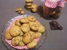 Mini cookies de chocolate y nueces #recetas #buenprovecho
