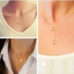 Women Pendant Chain Infinity Choker Chunky Statement Bib Charm Necklace Jewelry  #2014FashionTrendyCelebrity #InfinityChunkyStatementBibNecklace