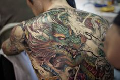 Asian dragon tatoos