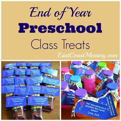 Simple Preschool Class Treats - the free printable tags are super cute!