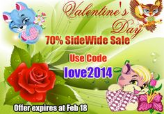 Valentine's Day sale! running,Now through Tuesday February 18 th,2014 at Midnight.Enter love2014 at check out to recieve 70% off your purchase.Shop discounted embroidery designs,valentine embroidery designs and more on http://embroideryhorizons.com/