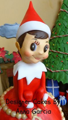 "Chippy from Elf on the Shelf ""Bake a Christmas Wish"" - by Anna Garcia @ CakesDecor.com - cake decorating website"