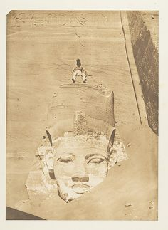 Westernmost Colossus of the Temple of Re, Abu Simbel - Maxime Du Camp  (French, 1822–1894), 1850