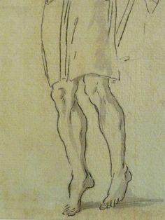 """DOMINIQUIN (d'Après) - St Nil guérit un Jeune Possédé avec l'Huile de la Lampe, Le Père et son Fils (drawing, dessin, disegno-Louvre INV9147) - Detail 06  -  TAGS /  details détail détails detalles """"dessins 17e"""" """"17th-century drawings"""" """"Italian paintings"""" """"peinture italienne"""" croquis étude Study studies sketch sketches Museum Paris France """"Domenico Zampieri"""" """"Le Dominiquin"""" """"saint Nil"""" kid kids Bible man men hommes face """"little boy"""" garçon père father son fils leg legs feet foot"""