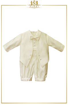 Oozing elegance is this cute little tuxedo suit for your little man. Designed by Romano, this tuxedo suit consists of a satin look trousers and a matching attached jacket. Shop now at SIRRI kids #suits for boys for #wedding #communion online...Elegant fashion for children and men. #fashion #shopping