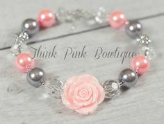 Girls Chunky Necklace Girls Bubblegum Chunky by ThinkPinkBows, $9.95