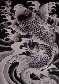 Chris Garver- To match the one I already have on my left rib cage. Pez Koi Tattoo, Koi Tattoo Sleeve, Carp Tattoo, Japanese Tattoo Art, Japanese Tattoo Designs, Japanese Sleeve Tattoos, Japanese Art, Koi Tattoo Design, Tribal Tattoo Designs