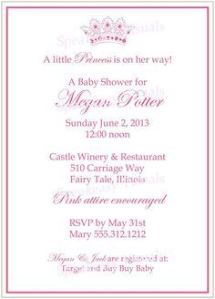 Free Printable Princess Baby Shower Invitations is the best ideas you have to choose for invitation example