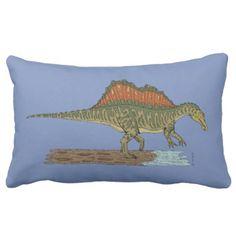 Spinosaurus Lumbar Pillow - decor gifts diy home & living cyo giftidea
