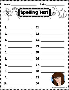 Fall Spelling Freebie  Tpt Freebies    Language Arts
