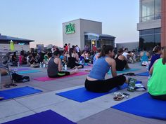 Rooftop sunset yoga @ Whole Foods
