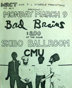 Bad Brains @ Skibo Ballroom Pittsburgh PA « Hardcore Show Flyers Punk Poster, Music Flyer, Rock Posters, Pittsburgh Pa, Photo Art, Flyers, Comics, Memes, Relationships