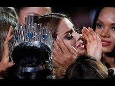 Miss Universe 2015 Winner Colombia crying