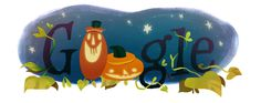 Above is an image of the 2014 version of the Google Halloween Doodle (aka logo).  It is going live almost globally on all Google sites, starting properties such as Google Australia where it is already tomorrow there...