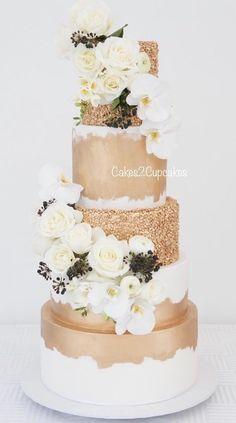 Featured Cake: Cakes 2 Cupcakes; www.cakes2cupcakes.com.au; Wedding cake idea.