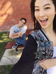 Arden Cho and Tyler Posey on the set of Teen Wolf Season 5! tyler is so cute!!