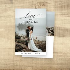 Wedding Thank You Cards Printable Thank You Postcards  Custom Thank You Card Full Photo Collage Postcard Thank You Note