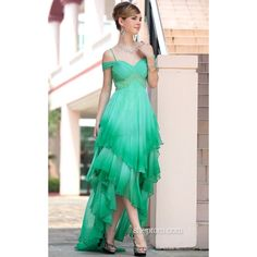 Unique Prom Dresses | Unique 2012 High Low Ombre Green Funky Prom Dresses Cheap sha620