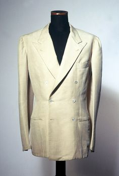1930s. Tussor silk jacket cut by Vincenzo Attolini for London House (Rubinacci).