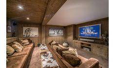 Chalet d'Hadrien is located on the Route de La Renarde, about 300 metres from the slopes and 800 metres from the resort center.   Amongst many luxury features, it has a play room and a cinema room with large comfy sofas.