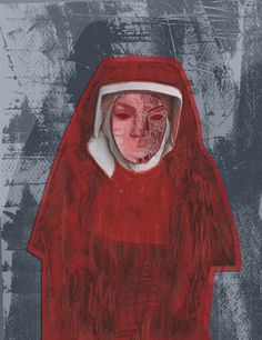 The Handmaid's Tale- Margaret Atwood by Clare Corfield Carr, via Behance