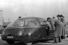"""Schloerwagen - Built, just before the start of WWII, on the rear-engine Mercedes-Benz 170H chassis it was known as the Göttinger Ei (""""an egg from Göttingen"""") or the Schlörwagen. Its designer, Karl Schlör, a Krauss Maffei engineer, had proposed a bodyshell with extremely low drag coefficient as early as of 1936. The prototype dazzled the public at the Berlin autoshow of 1939. But, because of the outbreak of WWII, the Schlörwagen never actually went into production. Karl Schlör died in 1997."""