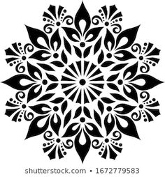 Stencils Mandala, Stencil Patterns, Flower Stencils, Mandala Artwork, Mandala Painting, Mandala Pattern, Mandala Design, Lotus Flower Art, Stencil Printing