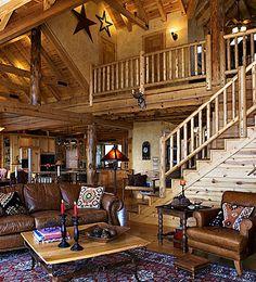 Luxury Log Home, Adore Your Place - Interior Design Blog