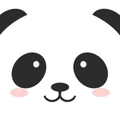 Cute Panda Face Seamless Wallpaper Stock Vector 365196254 ...