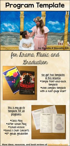 this program template can be edited for dramatheatre productions band and choir concerts talent shows and graduations you get two different styles a