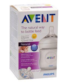 Giá: 255,000 VND - Bình đơn PP Natural 125ml - Bình sữa cổ điển Philips Avent,  đầu ty có tốc độ chảy tự nhiên