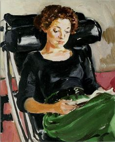Fisher, Sandra (1947-1994) Noga reading c.1992