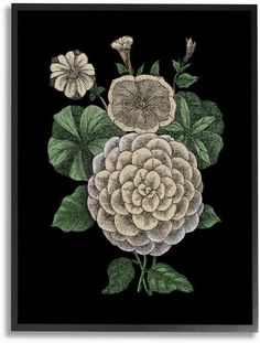 Stupell Industries Yellow Flowers Drawing, Design by The Saturday Evening Post Wall Art, 24 x 30, Black Framed
