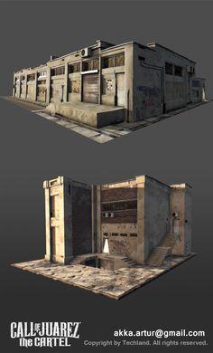 ArtStation - Call of Juarez: Cartel Artur Kowalczyk Zbrush Environment, Environment Concept Art, Environment Design, 3d Building, Building Design, Building Ideas, Apocalypse Landscape, 3d Cinema, Post Apocalyptic Art