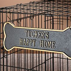 Personalized Dog Crate Plaque